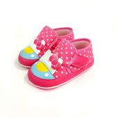 HELLO KITTY  可愛點點  KITTY造型 寶寶學步鞋《7+1童鞋》D517粉色