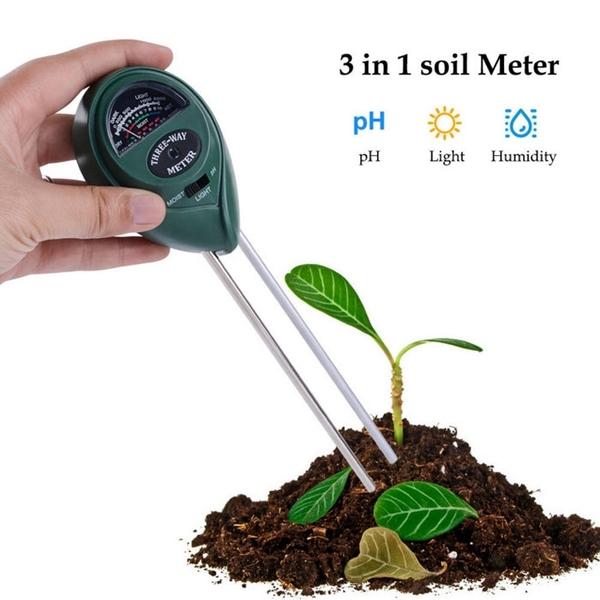 三合一土壤測試計 測濕度/酸鹼度/光照度