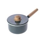 HOLA 琺瑯單柄調理鍋16cm-煙霧藍