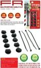 車之嚴選 cars_go 汽車用品【DA671】韓國FOURING 3M背膠黏貼式DIY圓扣(10個)+束帶(4條)收線理線器固定組