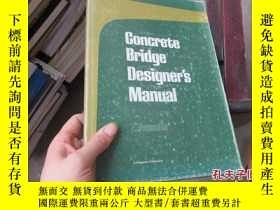 二手書博民逛書店concrete罕見bridge designer s manu