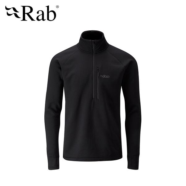 英國 RAB Power Stretch Pro Pull-On 保暖排汗衣 男款 黑色 #QFE62