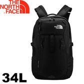 【The North Face 美國 34L 17吋電腦背包《黑》】CLH3/支撐/通風/大容量★滿額送