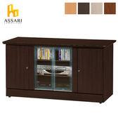 ASSARI-經典四門4尺電視櫃(寬118*深48*高63cm)白橡