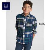 Gap x Sarah Jessica Parker系列男童 法蘭絨長袖襯衫 370568-墨綠色