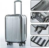 行李箱保護套透明防水拉桿箱皮箱防塵罩20/24/26/28/30寸加厚耐磨  茱莉亞嚴選