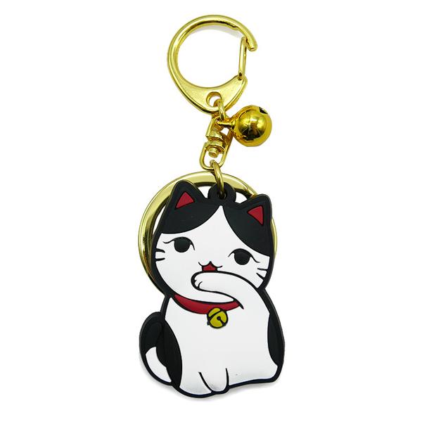 【金石工坊】貓咪鈴鐺小吊飾/鑰匙圈-賓士貓 開運飾品