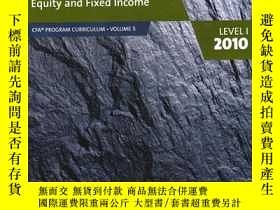 二手書博民逛書店EQUITY罕見AND FIXED INCOME:CFA PRO