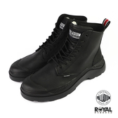 Palladium Pallakix 黑色 皮質 軍靴 休閒鞋 男女款NO.B0821【新竹皇家 76422-001】