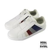 Royal Prince 白色 皮質 套入 休閒運動鞋 男款 NO.B0801【新竹皇家 01493-015】