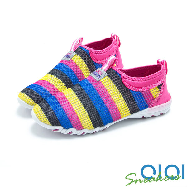 休閒鞋 彩虹花漾柔軟休閒鞋(桃紅) *0101shoes 【18-223r】【現+預】
