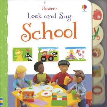 【麥克書店】LOOK AND SAY SCHOOL /硬頁書