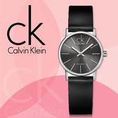 CK手錶專賣店 K7622107 女錶 中性錶  小 石英 側面透明玻璃設計 礦物抗磨玻璃 皮革錶帶