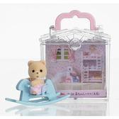 《 森林家族 - 日版 》嬰兒木馬提盒 ╭★ JOYBUS玩具百貨