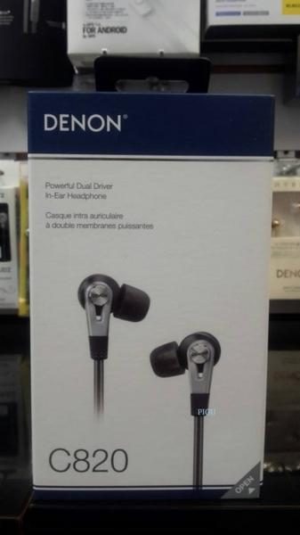 平廣 日本 天龍 DENON AH-C820 雙單體 耳道式 耳機 原廠內附記憶耳塞 耳道式耳機 保固1年