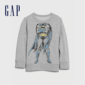 Gap男幼童 Gap x DC正義聯盟系列超人休閒休閒上衣 617846-淺灰色