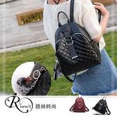 韓系個性休閒菱格拉鍊設計雙肩背包/2色 (YL0048-BM7058) iRurus 路絲時尚