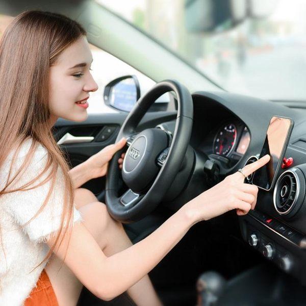 車載手機支架粘貼磁力吸盤式汽車用磁性車內磁鐵磁吸車上支撐導航 【快速出貨】