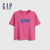 Gap男童 Logo純棉圓領短袖T恤 979502-紫紅色
