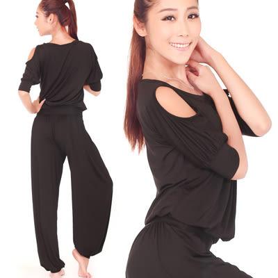 女士瑜伽服套裝春夏季寬鬆顯瘦運動健身瑜珈舞蹈練功愈加服秋 - lxy001019