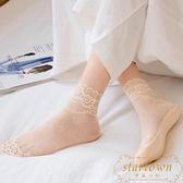女薄款絲襪純棉底淺口夏季短筒船襪蕾絲襪短襪隱形【繁星小鎮】