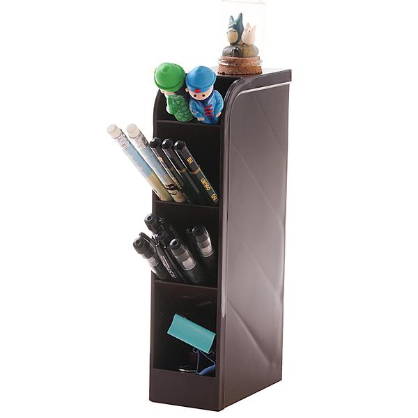 尺寸超過45公分請下宅配日本進口YAMADA創意筆筒桌面辦公收納盒筆插筆座遙控筒文具整理盒