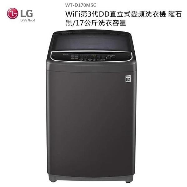 【南紡購物中心】LG 17公斤 遠控直立式變頻洗衣機 WT-D170MSG
