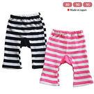 兒童薄褲子日本製橫條紋造型