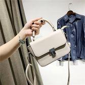 夏季新款韓潮時尚女包百搭小款手提包鎖扣斜挎包單肩包 WD737【夢幻家居】