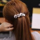 髮夾 夾子 髮飾新款簡約韓式發夾后腦勺發卡大號彈簧夾優雅氣質媽媽頂夾子發飾