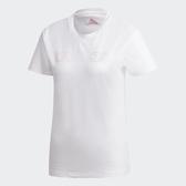 ADIDAS W GRFX T2 女裝 短袖 訓練 基本款 LOGO 棉質 白 粉【運動世界】GL7799
