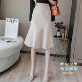 魚尾裙 中式半身裙a字裙高腰女2020新款夏天顯瘦長裙一步裙包臀裙 3色