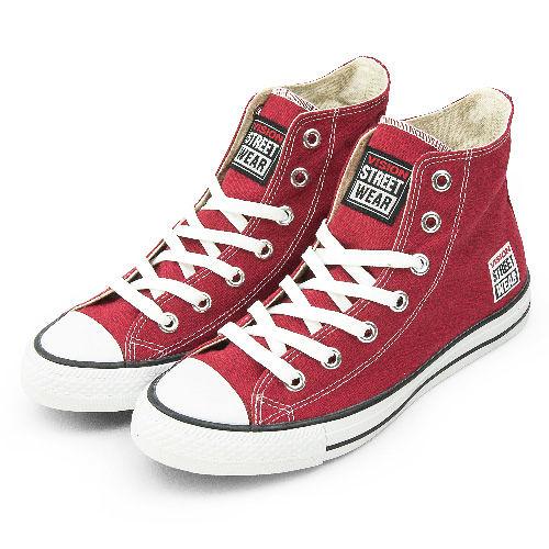 VISION STREET WEAR 經典帆布鞋 棗紅 V22008--男