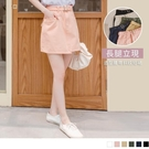《CA2324》顯瘦實搭!高含棉斜紋短裙 附腰帶 OrangeBear