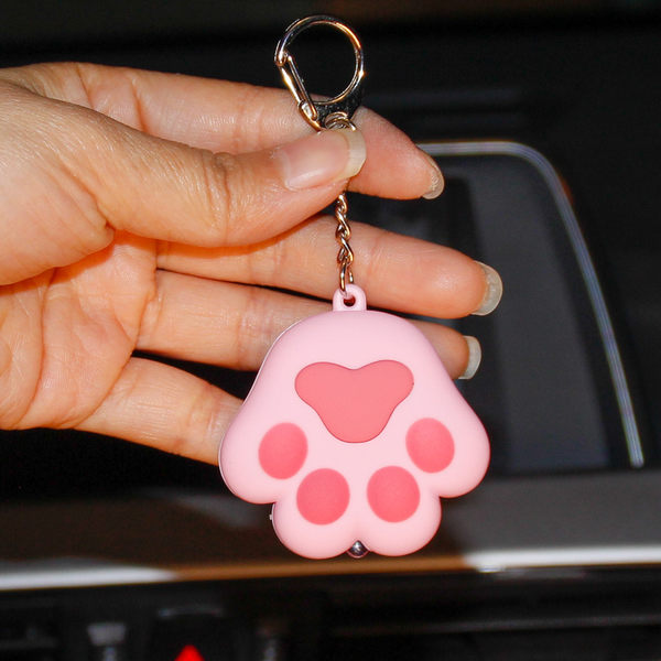 卡通可愛小貓咪鑰匙扣圈情侶女包包汽車鈴鐺掛件YSK5 魔法街