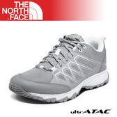 【The North Face 女 徒步鞋《灰/白》】3YUL/登山鞋/越野鞋/健行鞋/跑步/路跑/透氣耐磨輕量