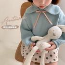 女童毛衣2020春秋裝新款童裝寶寶洋氣寬松長袖上衣兒童休閒針織衫 小山好物