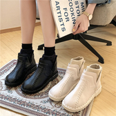 平跟雪地靴女2020冬季新款韓版套腳學生保暖面包鞋防滑棉鞋森女靴