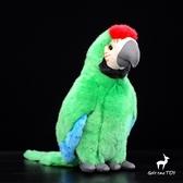 可愛金剛鸚鵡公仔 金剛鸚鵡毛絨玩具 毛絨仿真動物 28CM