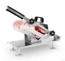切肉機雙刃刀羊肉卷切片機家用手動切年糕阿膠凍牛肉蔬菜刨肉神器LX春季新品