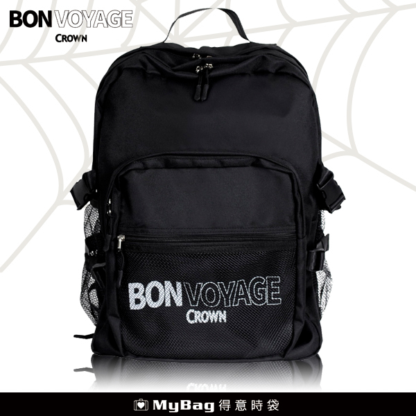 CROWN BONVOYAGE 後背包 超大容量 多隔層 可放水瓶 筆電 MCL5112 得意時袋