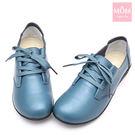 韓版舒適休閒真皮平底單鞋 休閒鞋 軟皮駕車鞋 藍 *MOM*