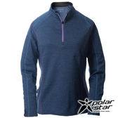 PolarStar 女高領刷毛保暖衣 藍 P16244 休閒│登山│露營│機能衣│刷毛衣
