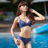 曼黛瑪璉-V極線內衣  B-E罩杯(沉靜藍)
