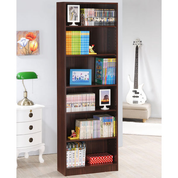 《Hopma》胡桃木色高六格書櫃/收納櫃