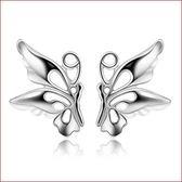 氣質小蝴蝶耳釘女式 韓版可愛精緻蝴蝶 鍍銀飾品女《小師妹》ps436