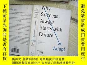 二手書博民逛書店Adapt:Why罕見Success Always Starts