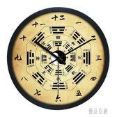 掛鐘 大尺寸夜光太極八卦創意靜音掛鐘中式歐式養生招財鐘 KB3382【優品良鋪】