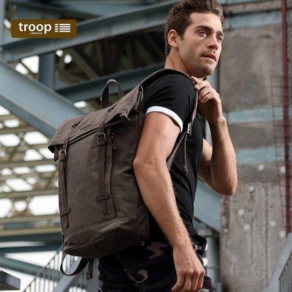 【TROOP】傳統簡約 HERITAGE 雙肩包/TRP0425DB