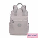【i Brand】輕盈防潑水手提口袋尼龍後背包-灰色 MDS-8616-GR